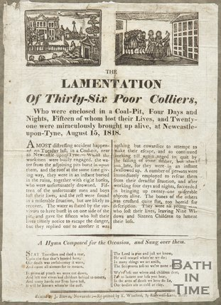 Lamentation Of Thirty-Six Poor Colliers, 1818