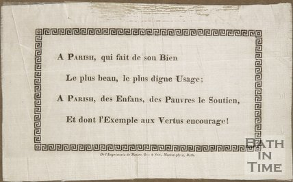 Poem On A Parish, In French, On Silk