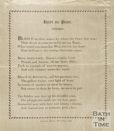 Poem Celebrating The Peace Of Paris, 1814, On Silk