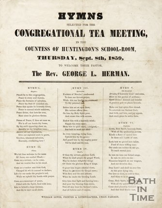 Hymns Selected To Welcome The Rev. George L. Herman, 1859