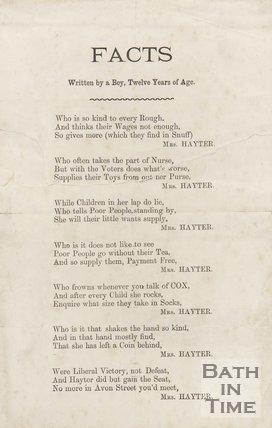 Political Poem - Mrs. Hayter, c.1885