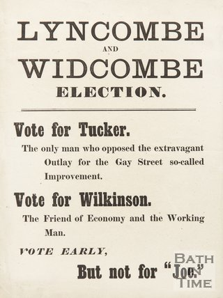 Election Poster For Lyncombe And Widcombe, 1870