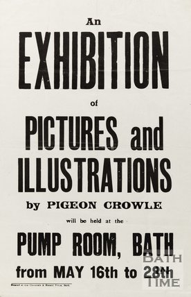 Poster Advertising Exhibition Of Pictures And Illustrations