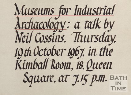 Advertisement For A Talk By Neil Cossins, 1967