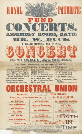 Poster For Royal Patriotic Fund Concerts, 1855