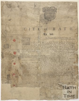 Notice To The City Of Bath Regarding Chairmen Licensing, 1755