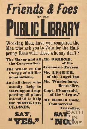 Poster To The Friends & Foes Of The Public Library, c.1850