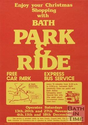 Poster Advertising Bath Park & Ride