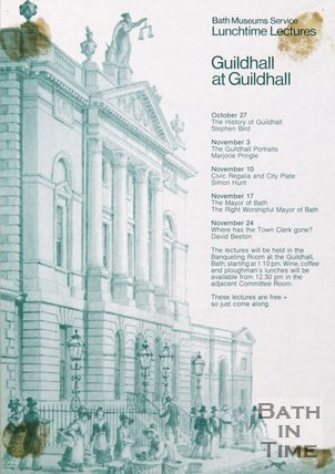 Poster Advertising A Lunchtime Lecture On The Guildhall, At The Guildhall, 1982