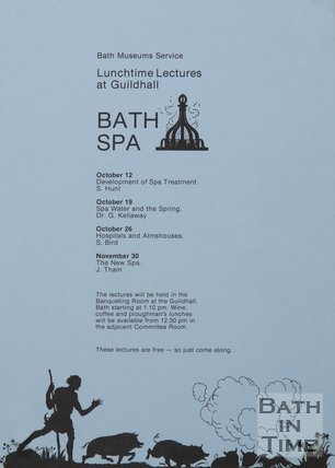 Poster Advertising Lunchtime Lectures On Bath Spa, 1983