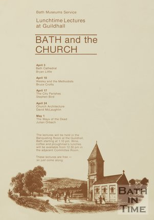 Poster Advertising Lunchtime Lectures On Bath And The Church, 1984