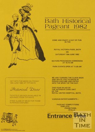 Poster Adverting Bath Historical Pageant 1982