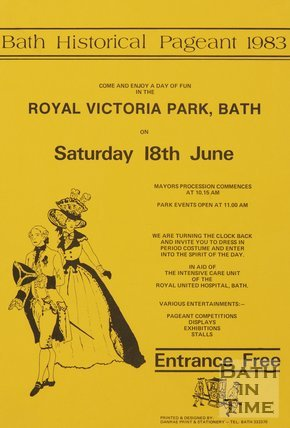 Poster Advertising Bath Historical Pageant, 1983