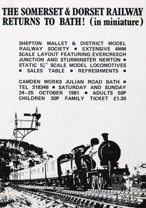 Poster Advertising The Somerset & Dorset Railway In Miniature, 1981