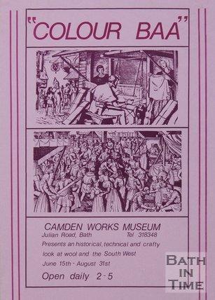 Poster Advertising Camden Works Museum, Julian Road, Bath, 1982