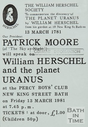 Poster Advertising Talk By Patrick Moore, 1981