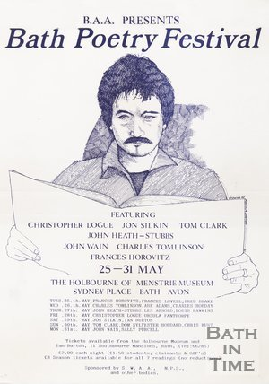 Poster Advertising Bath Poetry Festival, 1982