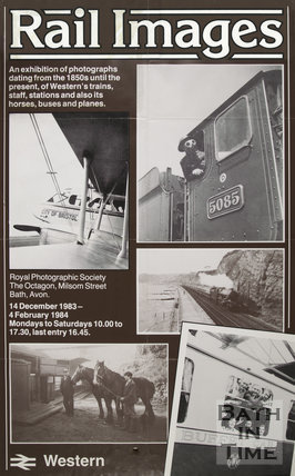 Poster For Western Rail Images At The Royal Photographic Society, 1983