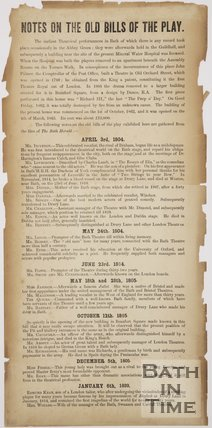 Notes On The Old Bills Of The Play, 1804 - 1820