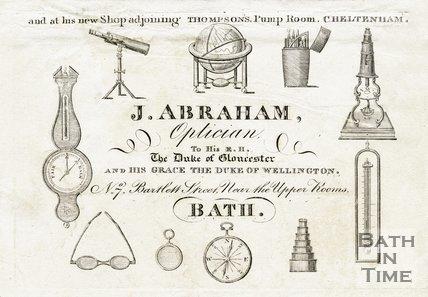 Trade Card for Jacob ABRAHAM 7 Bartlett Street, Bath c.1824
