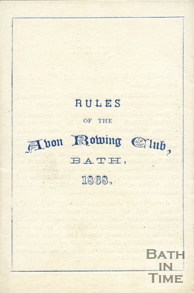 Trade Card for AVON Rowing Club, Bath 1868