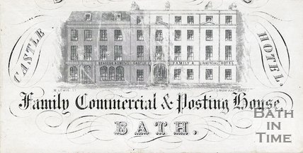 Trade Card for CASTLE Hotel, Bath