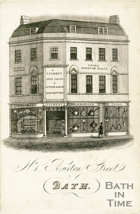 Trade Card for H. CLEMENT 1 Burton Street, Bath 1830
