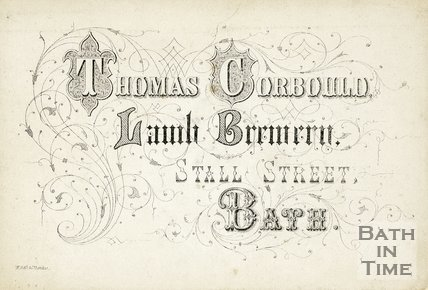 Trade Card for Thomas CORBOULD, Stall Street, Bath