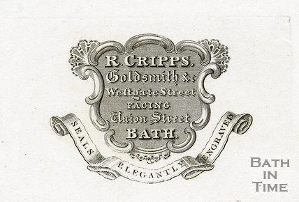 Trade Card for R. CRIPPS Westgate Street facing Union Street, Bath c.1819