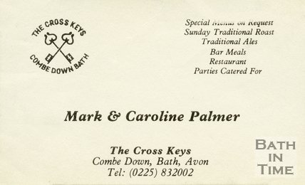 Trade Card for The CROSS Keys Combe Down, Bath