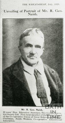 Portrait of Mr R. Geor. Naish, Twerton, Bath, 1929
