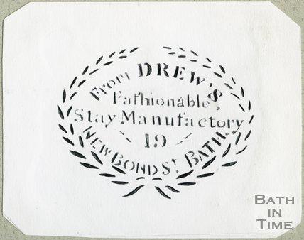 Trade Card for DREW & Co. 19 New Bond Street, Bath 1850