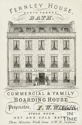 Trade Card for FERNLEY House North Parade, Bath