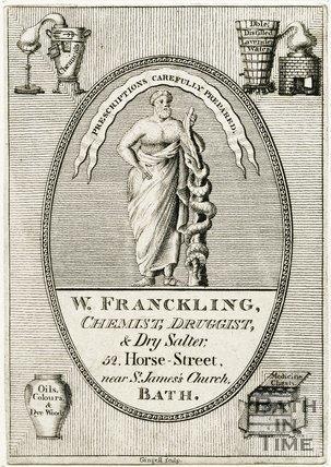 Trade Card for William FRANCKLING 52 Horse Street, Bath 1800?