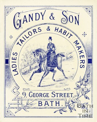 Trade Card for GANDY & Son 9 George Street, Bath 1902-8