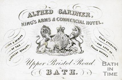 Trade Card for Alfred GARDNER Upper Bristol Road, Bath 18??