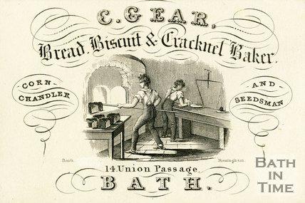 Trade Card for C. GEAR 14 Union Passage, Bath