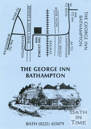 Trade Card for The GEORGE Inn, Bathampton, near Bath 1995