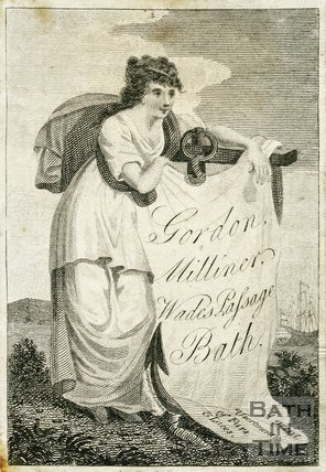 Trade Card for GORDON Wade's Passage, Bath 1794