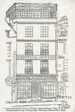 Trade Card for Henry GYE, Market Place, bath