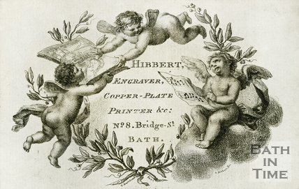 Trade Card for HIBBERT 8 Bridge Street, Bath 1795?