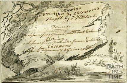 Trade Card for John HIBBERT 8 Chapel Row; Queen Square, Bath 1800