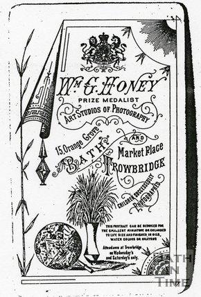 Trade Card for William G. HONEY 15 Orange Grove, Bath