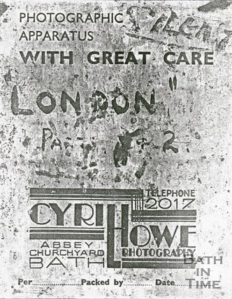 Trade Card for Cyril HOWE Abbey Churchyard, Bath 192?