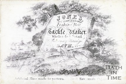 Trade Card for JONES (late Hucklebridge) 9 Pulteney Bridge, Bath
