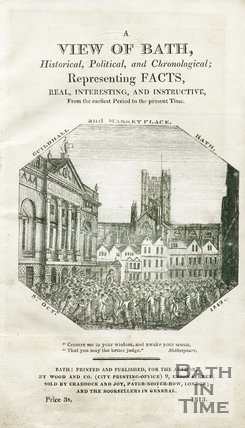 The Guildhall and Marketplace,  Bath, October 8th, 1813