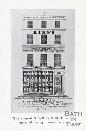 Trade Card for S. KING (late Whitchurch & King) Market Place facing Bridge Street, Bath