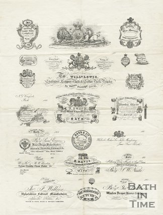 Trade Card for William LEWIS 24 Union Passage, Bath 1850