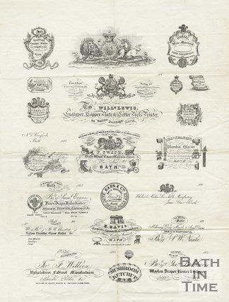 Trade Card for William LEWIS 24 Union Passage, Bath 1850