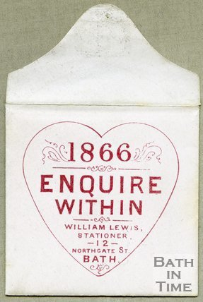 Trade Card for William LEWIS 12 Northgate Street, Bath 1866